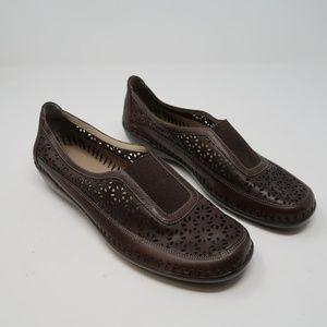 Womens Brown Easy Spirit Slip On Shoes